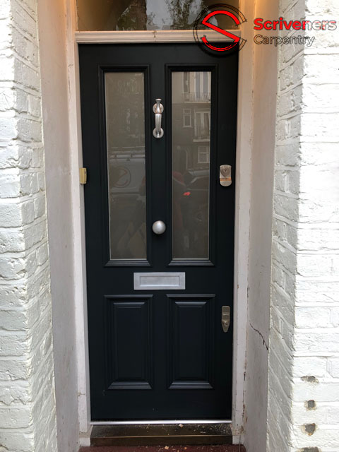 Photo showing new fitted entrance door