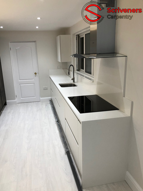 photograph showing new kitchen